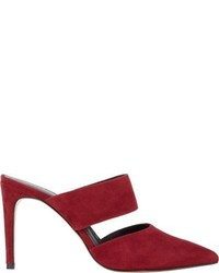 Barneys New York Jamie Mules Red