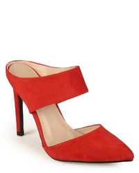 Journee Collection Steppup Pointed Toe Mule Heels