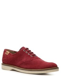 Red Suede Oxford Shoes