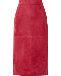 Fendi Suede Midi Skirt