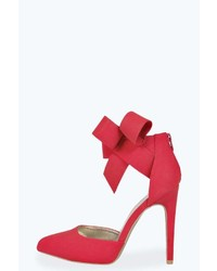 Boohoo Verity Bow Detail Pointed Heels