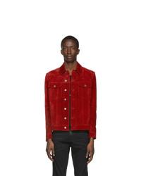 Saint Laurent Red Suede Classic Jacket