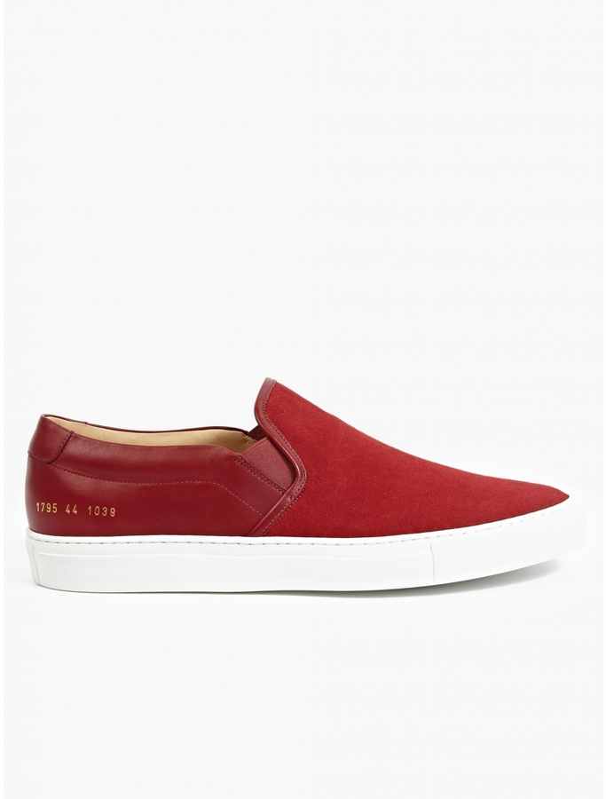 Common Projects Red Canvas And Leather