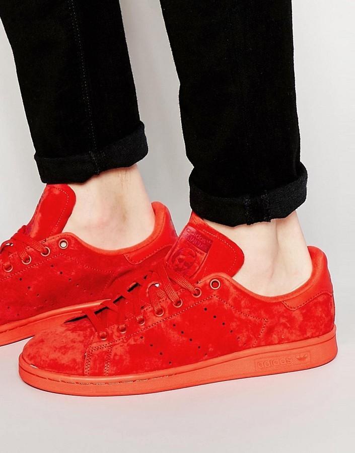 design de qualité 12103 552f4 $90, adidas Originals Stan Smith Suede Sneakers