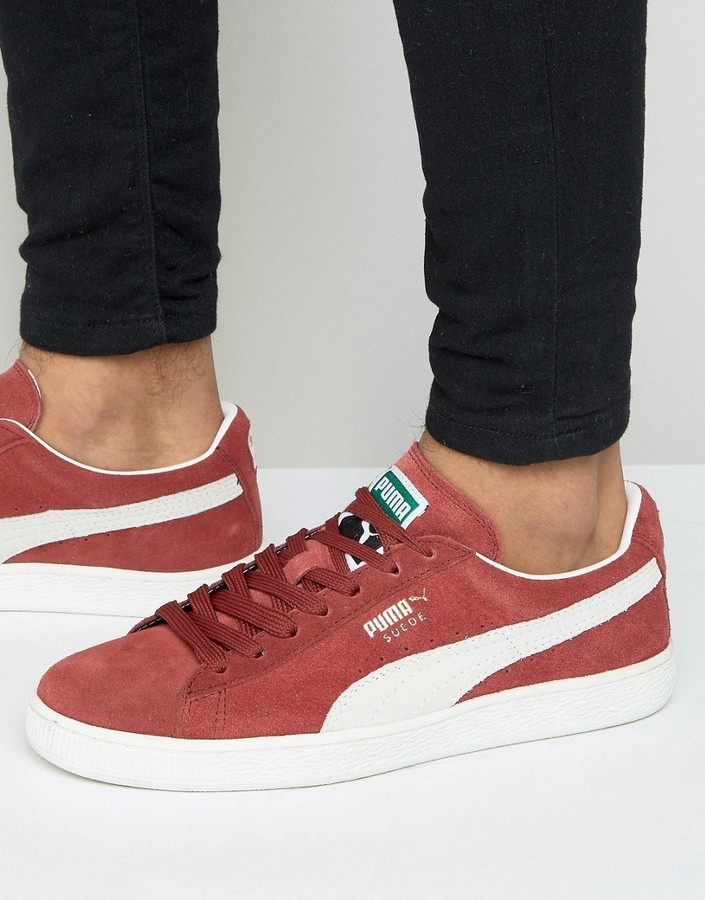 Suede Classic Sneakers In Red 35263475