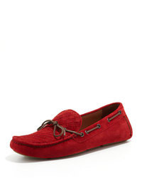 Red Suede Tassel Loafers