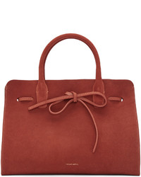 Red suede sun tote medium 952659