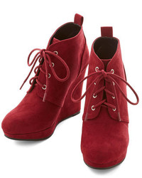 East Lion Corpqupid Live Local Artist Bootie In Burgundy
