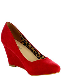 L C Nine 5 Wedge Pump Red High Heels
