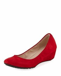 Sadie grand suede wedge pump bright red medium 5359787