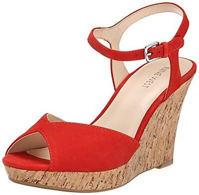 410b4be638f ... Red Suede Wedge Sandals Nine West Bigeasy Suede Wedge Sandal Choose  Colorsz ...