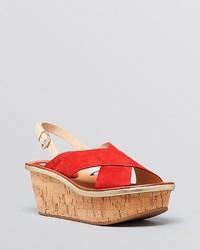 Diane von Furstenberg Platform Wedge Sandals Maven