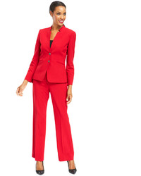 Tahari Asl Two Button Notched Collar Pantsuit Web Id 1738331