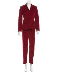 Dolce & Gabbana Corduroy Wide Leg Pantsuit