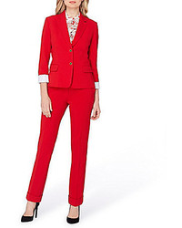 Tahari Asl Bi Stretch 2 Piece Pant Suit