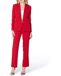 Tahari Asl Stretch Crepe 2 Piece Pant Suit