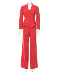 Alberta Ferretti Three Piece Tailored Pantsuit