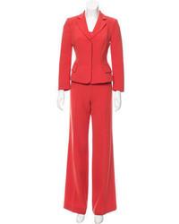 Alberta Ferretti Three Piece Tailored Pantsuit