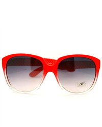 106Shades Dg Eyewear Round Oversized Horn Rim Fashion Sunglasses Red