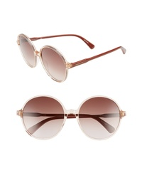 Longchamp 49mm Gradient Round Sunglasses