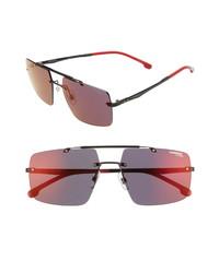Carrera Eyewear 55mm Polarized Tinted Rimless Navigator Sunglasses