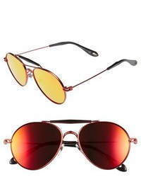 Givenchy 56mm Aviator Sunglasses Red