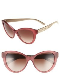 Burberry 56mm Cat Eye Sunglasses Matte Red