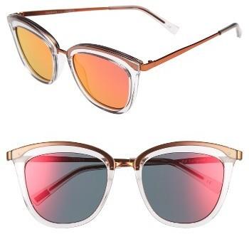 34c7229c190 ... Le Specs Caliente 53mm Cat Eye Sunglasses Mist Firecracker ...