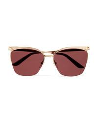 Cartier Eyewear Cat Eye Gold Tone Sunglasses