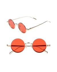BONNIE CLYDE Desierto 42mm Round Sunglasses