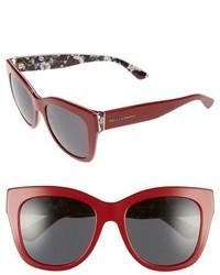 Dolce & Gabbana Dolcegabbana 55mm Retro Sunglasses Red