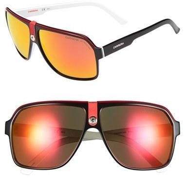 907f68c9558f Carrera Eyewear 62mm Aviator Sunglasses Black Red Mirror Lens, $149 ...