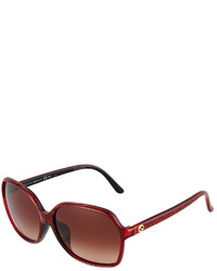 Gucci Glitter Plastic Sunglasses Red