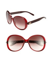 Marc by Marc Jacobs 58mm Oversized Sunglasses Transparent Red One Size