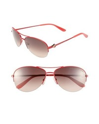 Marc by Marc Jacobs 59mm Aviator Sunglasses Shiny Red One Size