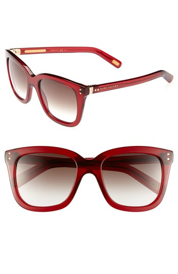 Red Marc Jacobs Sunglasses  marc jacobs 53mm retro sunglasses red one size where to