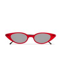 Illesteva Marianne Cat Eye Acetate And Gunmetal Tone Sunglasses