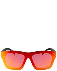 Topshop Matrix Rimless Visor Sunglasses