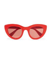 Ganni Mia Cat Eye Acetate Sunglasses
