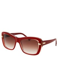 Nina Ricci Rectangle Red Sunglasses