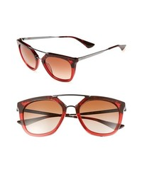 Prada Pilot 54mm Sunglasses Red Tortoise One Size