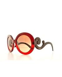 Prada Sunglasses Pr 27ns Max0a5 Red Gradient 55mm
