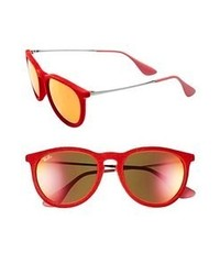 Ray-Ban Youngster Velvet 54mm Sunglasses Red Mirror One Size