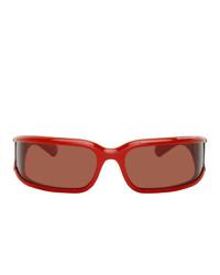 Balenciaga Red Intnl Screen Sunglasses
