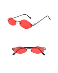 NEM Retro 55mm Rimless Geometric Sunglasses
