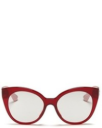 Miu Miu Rhinestone Pav Temple Acetate Cat Eye Sunglasses