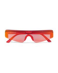 Balenciaga Ski Square Frame Acetate Mirrored Sunglasses
