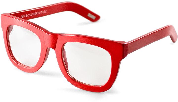 RetroSuperFuture Super By Ciccio Thick Frame Fashion Glasses Red ...