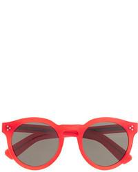 Illesteva Tm Leonard Ii Red Sunglasses