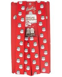 Wembley Santa Head Holiday Suspenders